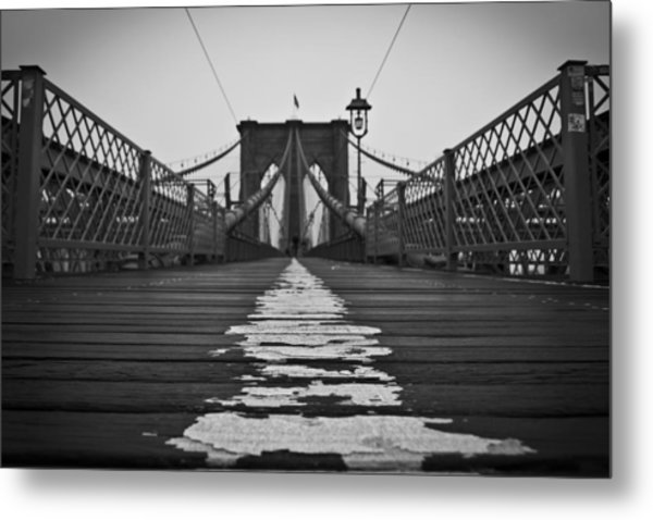 Brooklyn Lines Metal Print by Michael Murphy