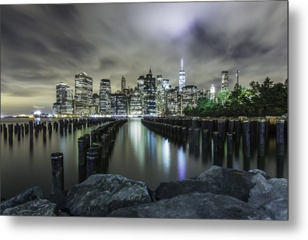Brooklyn On The Rocks  Metal Print