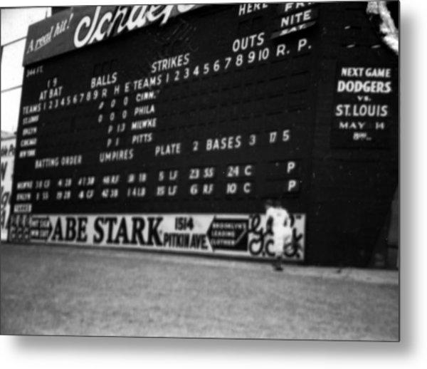 Brooklyn Scoreboard Metal Print by Retro Images Archive