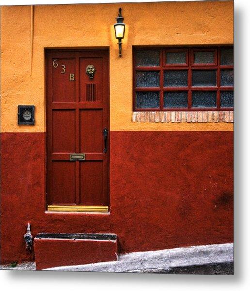 Brown Door In Mexico Metal Print