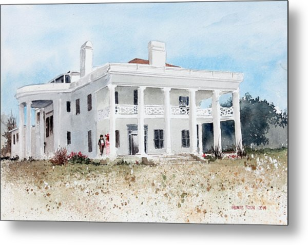 Brown Mansion Metal Print