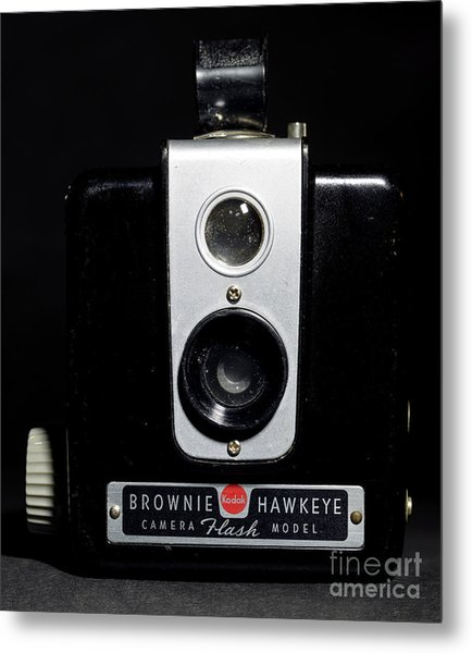 Brownie Hawkeye Flash Camera Metal Print