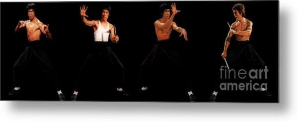 Bruce Lee - Times Four Metal Print