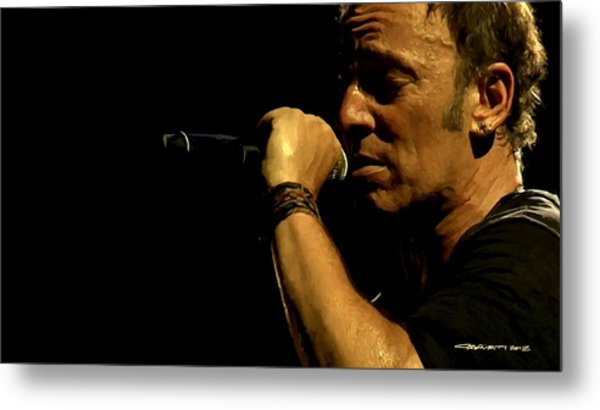 Bruce Springsteen Performing The River At Glastonbury In 2009 - 3 Metal Print