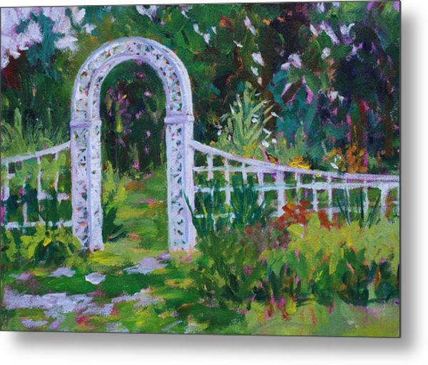 Brucemore Garden Gate Metal Print