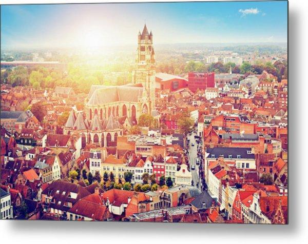Bruges, Belgium Metal Print by Artmarie