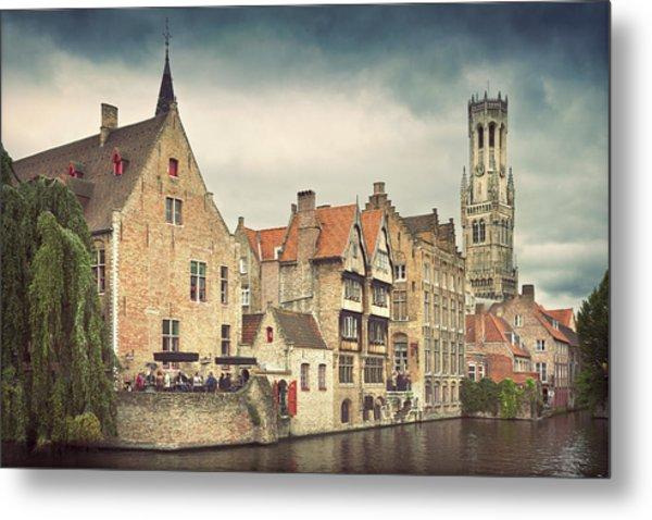 Brugge Metal Print by Ellen Van Bodegom
