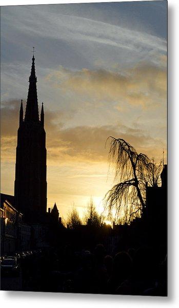 Brugges Sunset Metal Print by Stephen Richards