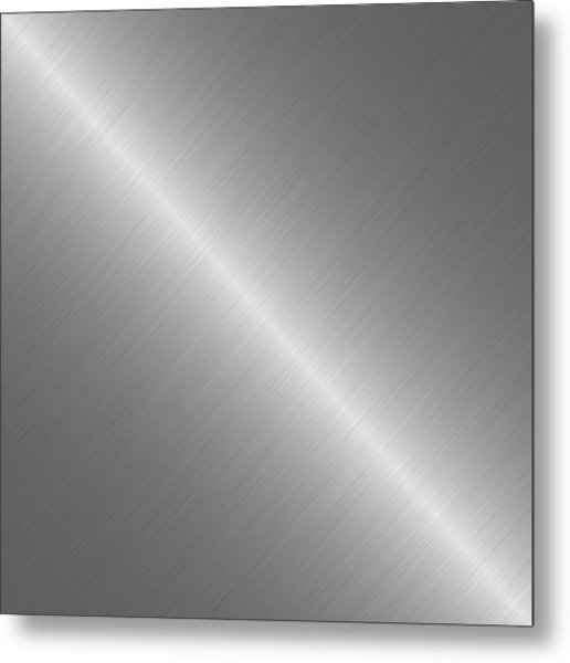 Brushed Steel Metal Texture 1 Metal Print by REDlightIMAGE