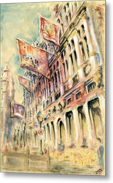 Brussels Grand Place - Watercolor Metal Print