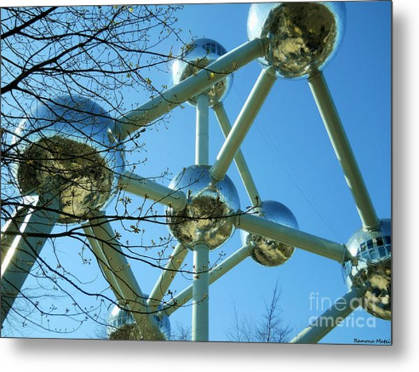 Brussels Urban Blue Metal Print