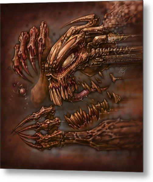 Brutal Mastication Metal Print