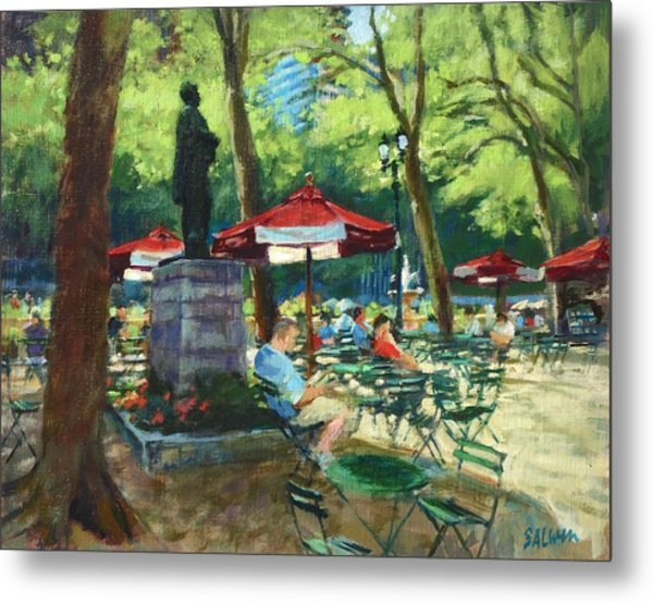 Bryant Park - The Reading Room Metal Print
