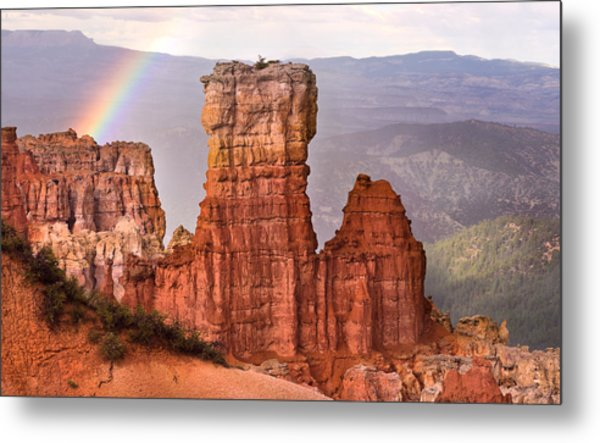 Bryce Canyon In Rain Metal Print