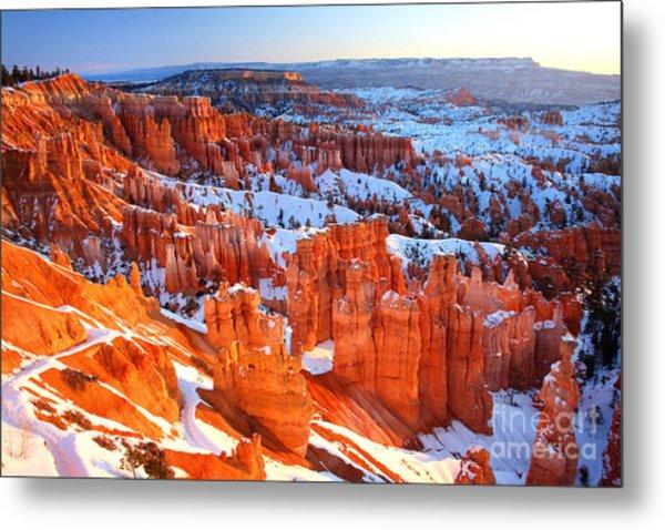 Bryce Canyon Winter Metal Print