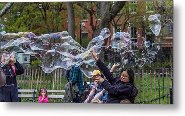Bubble Attack Metal Print