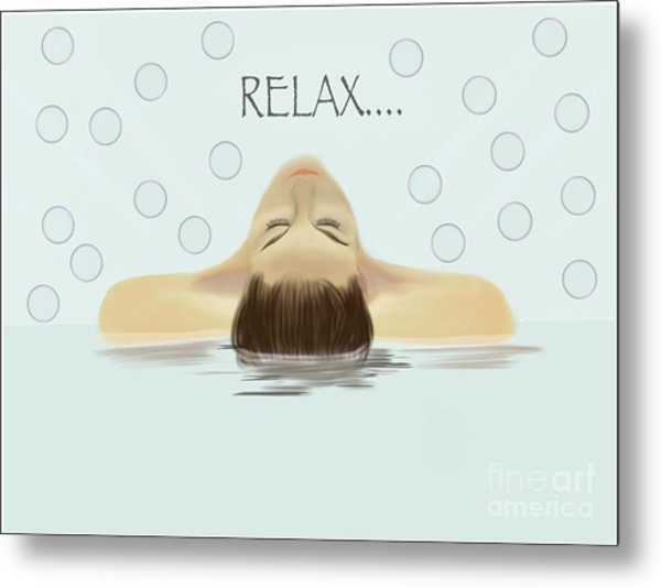 Bubble Bath Luxury Metal Print