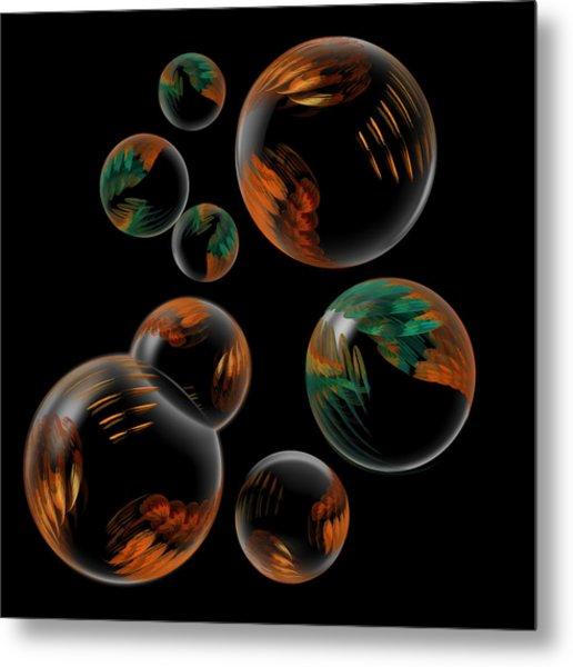 Bubble Farm Fractal Metal Print