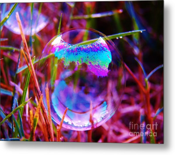 Bubble Illusions 2 Metal Print by Judy Via-Wolff