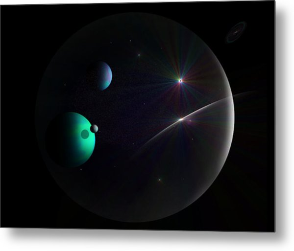 Bubbled Universe Metal Print by Ricky Haug