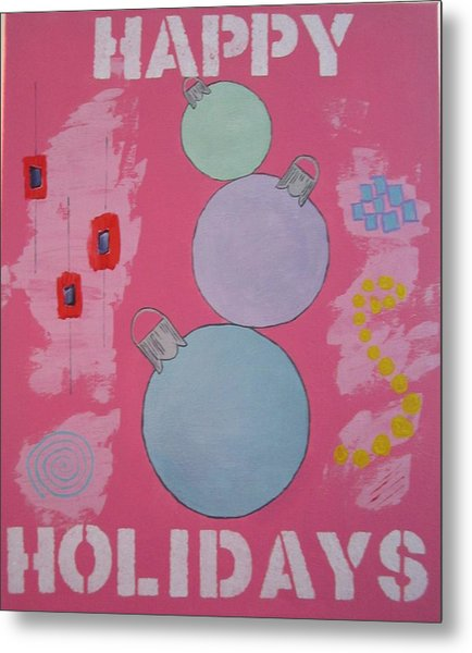 Bubblegum Christmas Metal Print