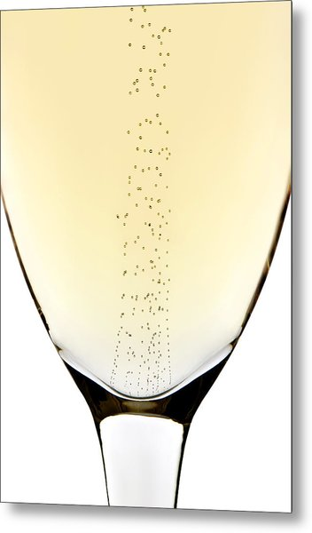 Bubbles In Champagne Metal Print