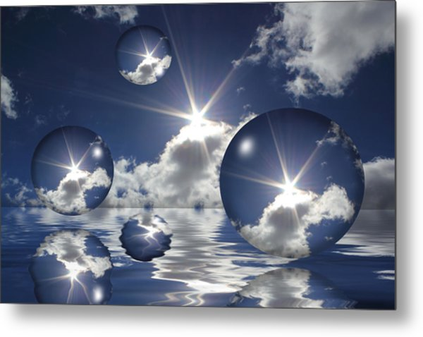Bubbles In The Sun Metal Print