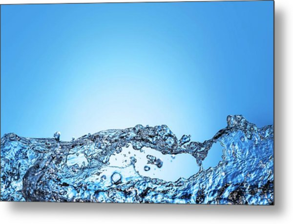 Bubbles In Water Metal Print