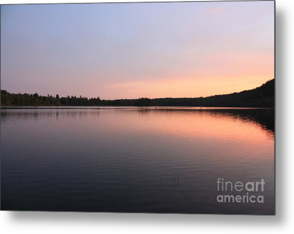 Buck Pond At Dusk Metal Print