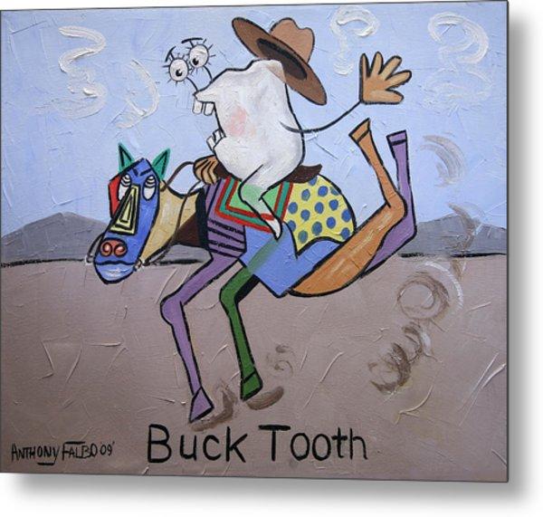 Buck Tooth Metal Print