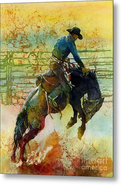Bucking Rhythm Metal Print