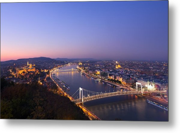 Budapest At Night Metal Print by Ioan Panaite