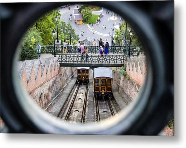 Budapest Castle Hill Funicular Metal Print