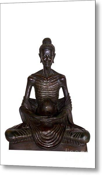 Buddha Attitude Subduing Himself Image Metal Print