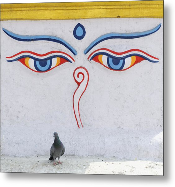 Buddha Eyes Metal Print