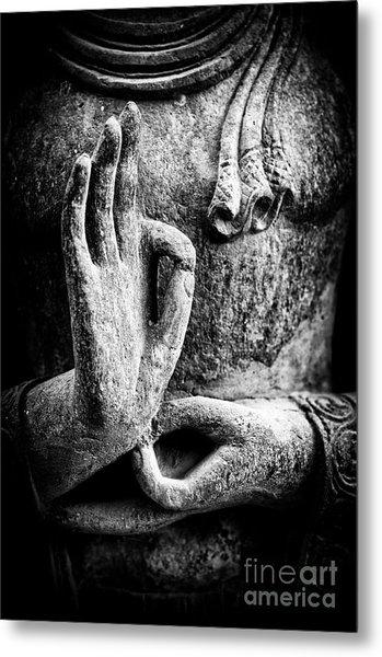 Buddha Hand Mudra Metal Print
