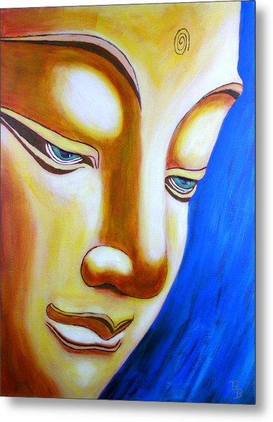 Buddha Head Gazing Art Metal Print