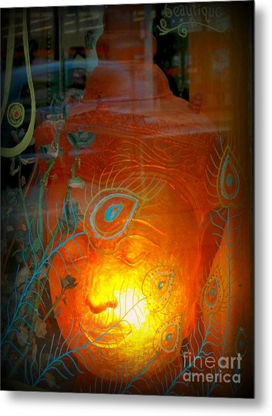 Buddha Head Metal Print