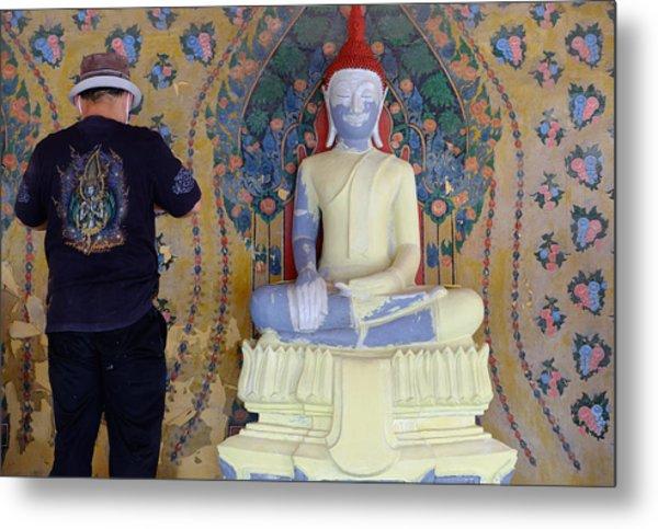 Buddha In Making Metal Print