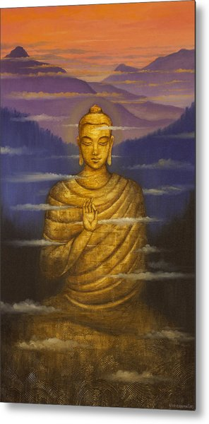 Buddha. Passing Clouds Metal Print