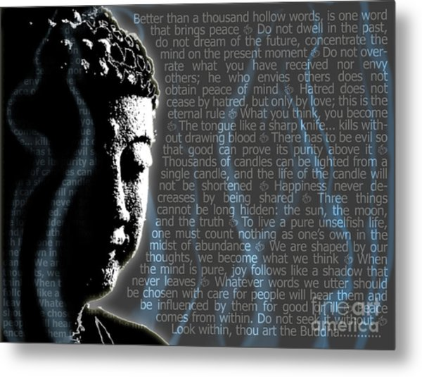 Buddha Quotes Metal Print