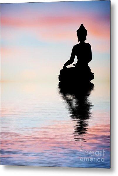 Buddha Reflection Metal Print