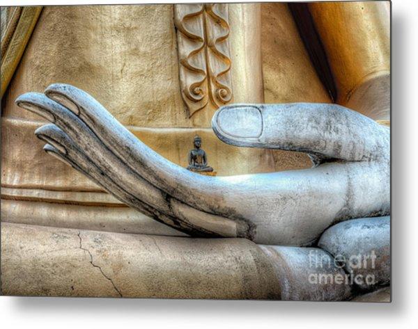Buddha's Hand Metal Print
