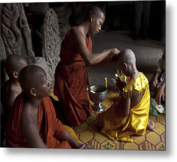 Buddhist Initiation Photograph By Jo Ann Tomaselli Metal Print