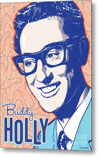 Buddy Holly Pop Art Metal Print