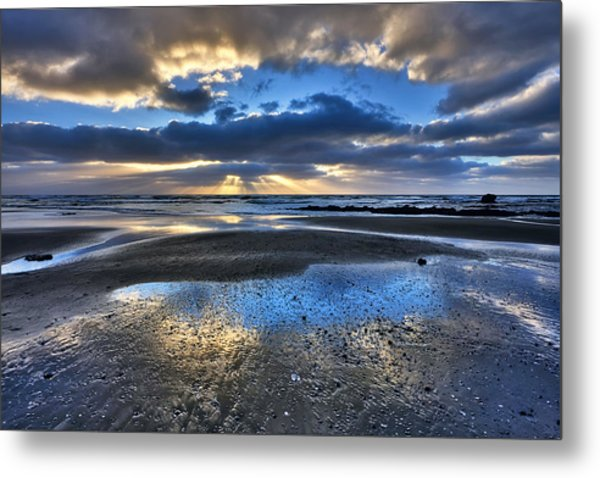 Bue Sky Reflections Metal Print