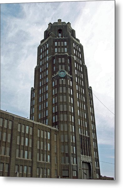 Buffalo Central Terminal Clock Tower Metal Print by Cecelia Helwig