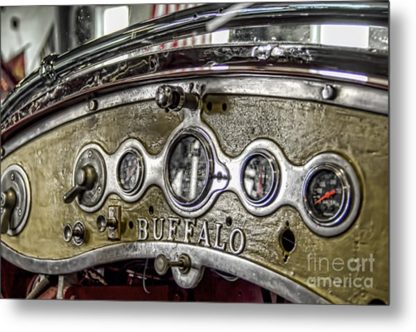 Buffalo Fire Appliance Dash Metal Print