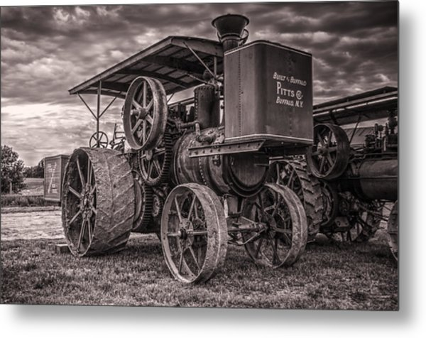 Buffalo Pitts Steam Traction Engine Metal Print