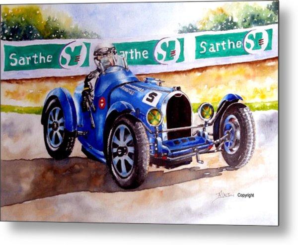 Bugatti 35b Metal Print by Anne Dalton